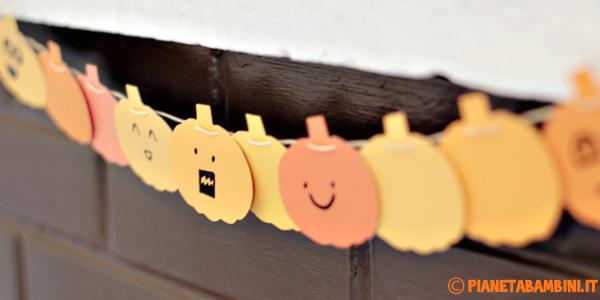 Festone con simpatiche zucche da stampare per Halloween