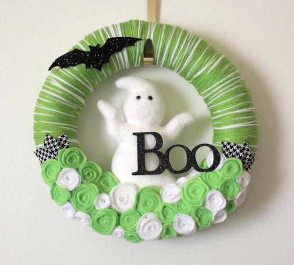 Ghirlanda di Halloween fai da te n. 30