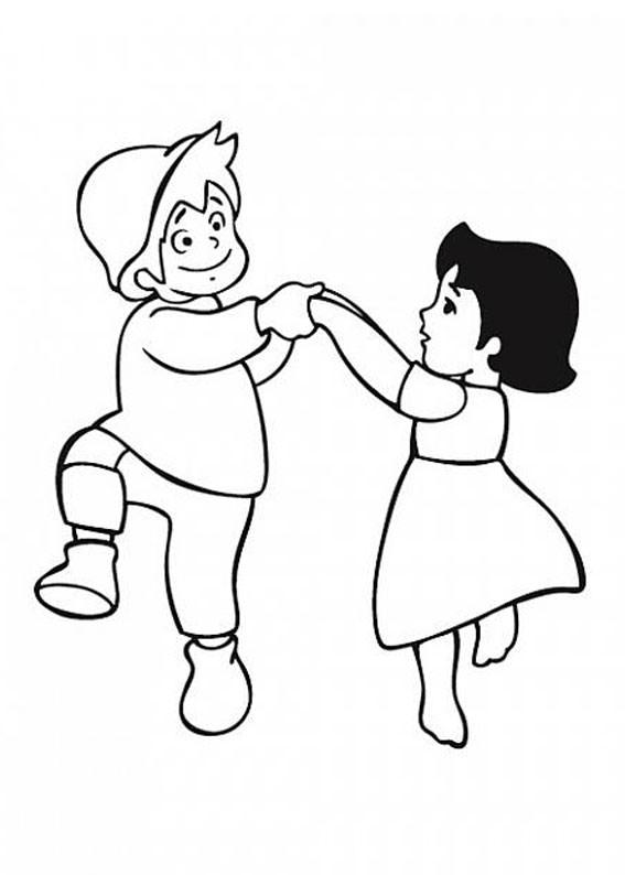39 disegni di heidi da colorare for Disegno bambina da colorare