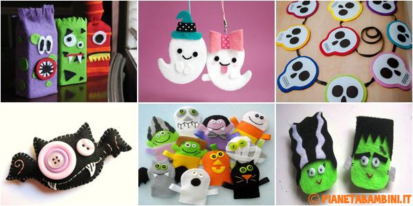 Lavoretti di Halloween in feltro per i bambini della scuola primaria