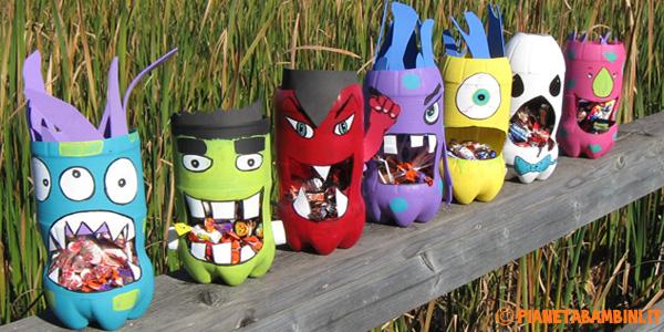 Idee per creare lavoretti di Halloween con bottiglie di plastica