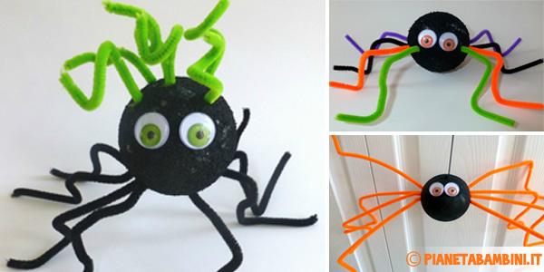 Come creare dei ragni con polistirolo e scovolini