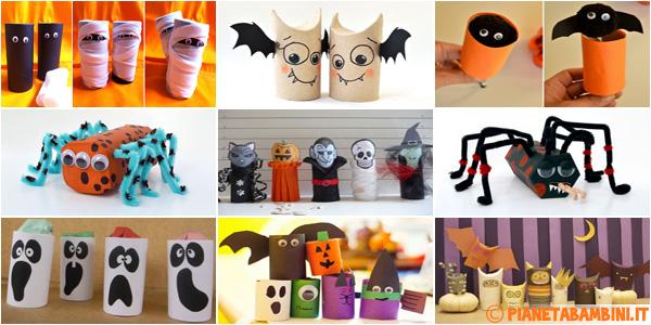 Idee per creare lavoretti di Halloween con rotoli di carta con i bambini