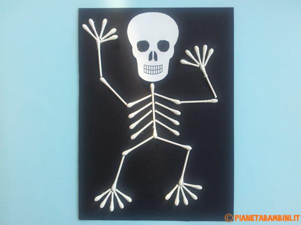 Versione di scheletro con cotton fioc n.04