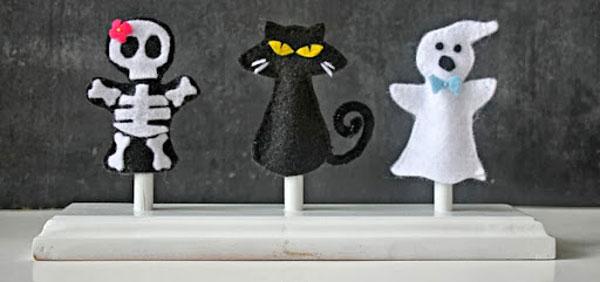 Idee per marionette da dita in feltro per Halloween n.2