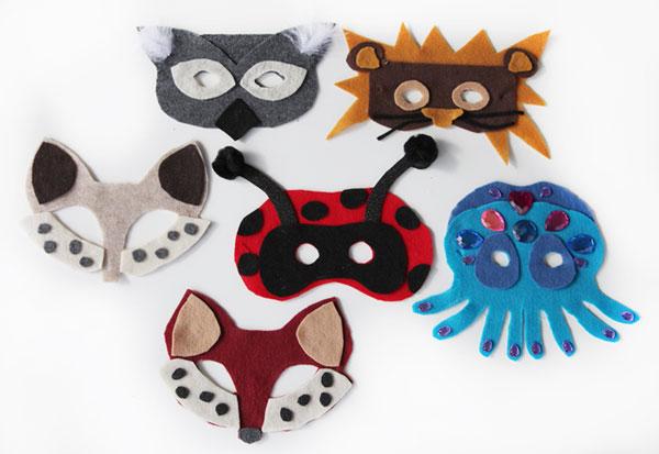 Come creare maschere in feltro per Halloween