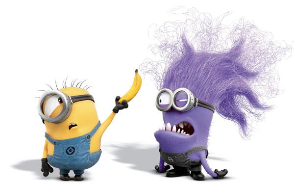 Immagine dei Minions giallo e viola