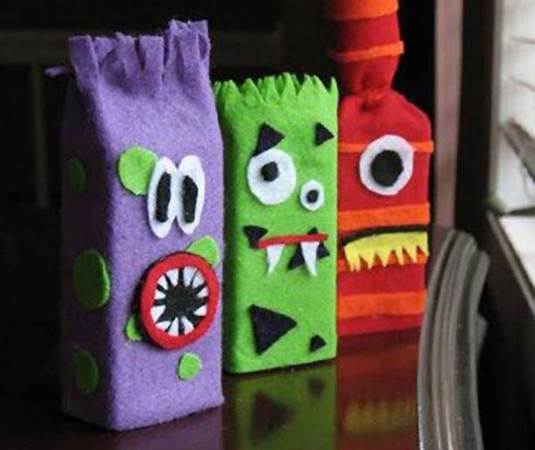 Come creare dei mostri in feltro per Halloween