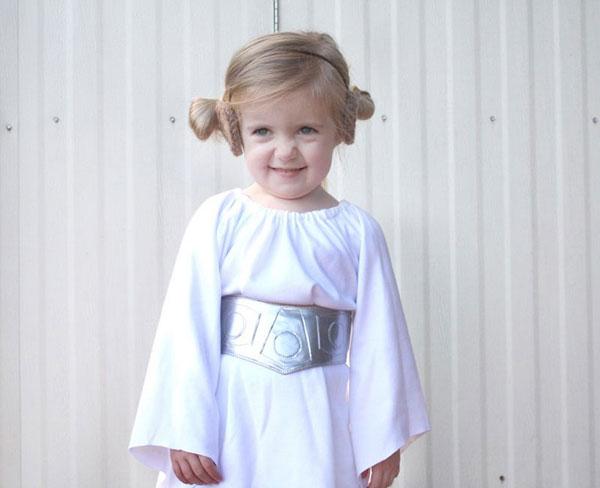 Come creare un costume da principessa Leila fai da te per bambine