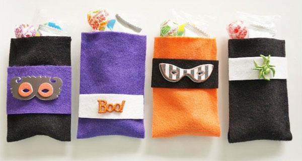 Come creare dei sacchetti porta caramelle in feltro per Halloween