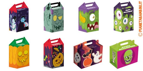 Template per la creazione di scatoline di Halloween fai da te
