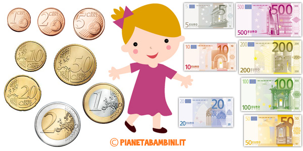 Schede didattiche sull'Euro da stampare gratis