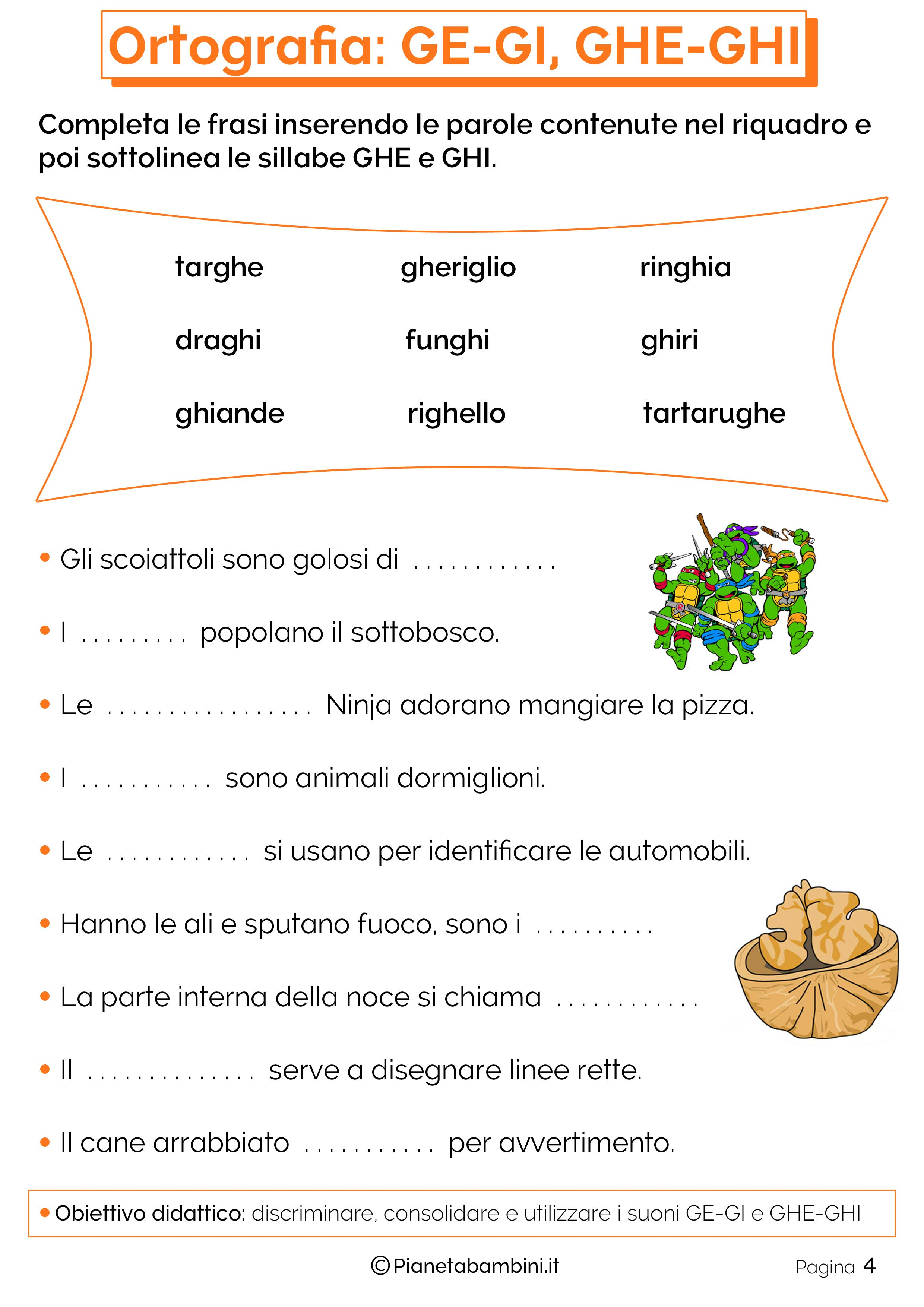 Chi Che Ghi Ghe Schede Didattiche Learning
