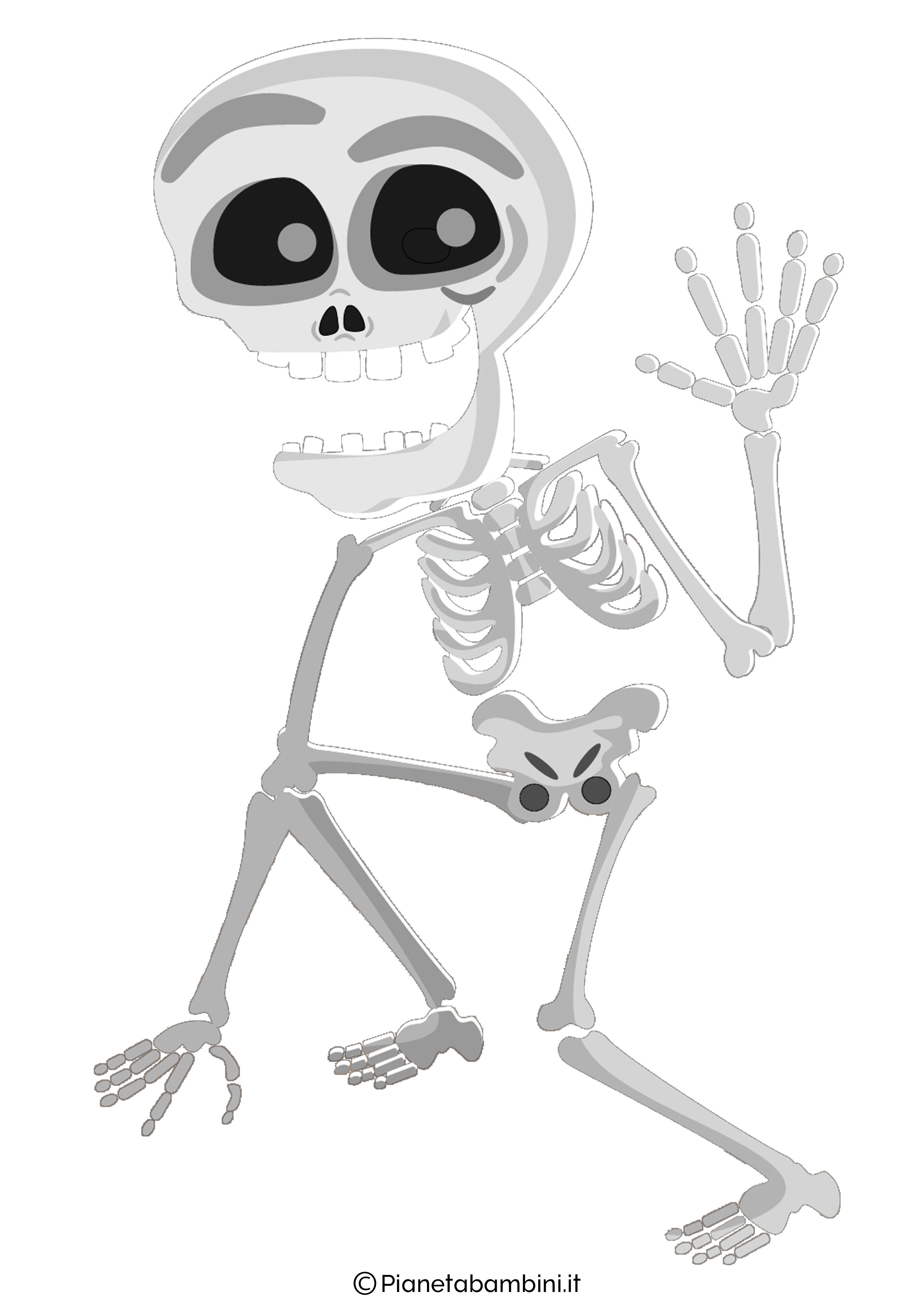 Decorazioni di halloween scheletri da stampare e