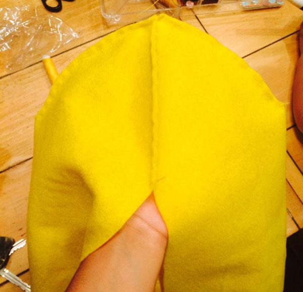 Cupola della testa del costume da Minions giallo fai da te