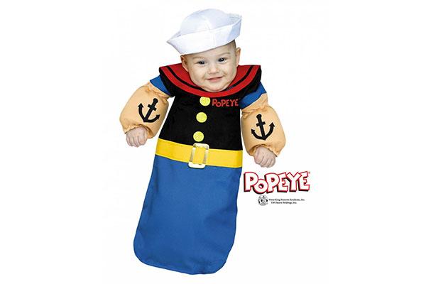 Vestito da braccio di ferro per Halloween per neonati