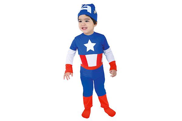 Costume di Halloween da Capitan America per bambini