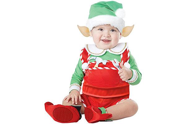 Vestito da elfo per Halloween per neonati