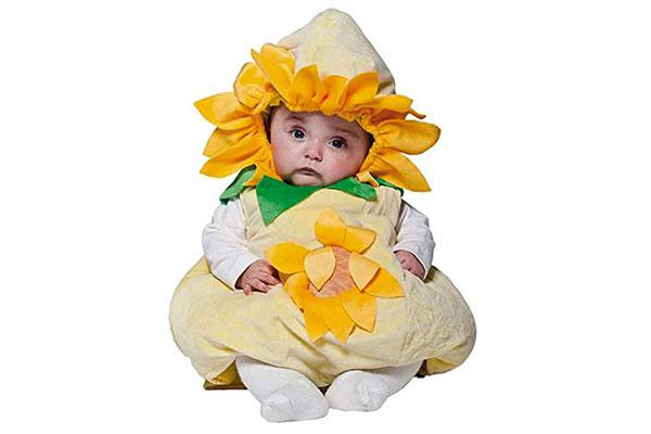 Costume di Halloween da girasole per neonati