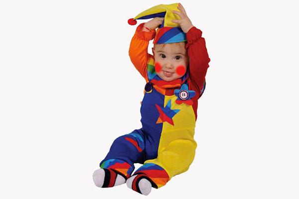 Costume di Halloween da pagliaccio per neonati