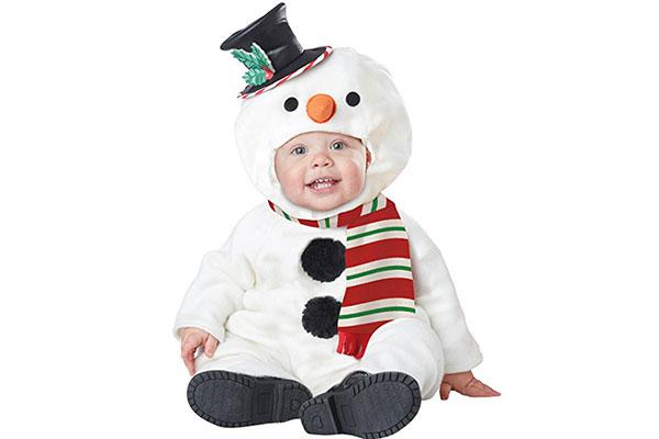 Vestito da pupazzo di neve per Halloween per neonati