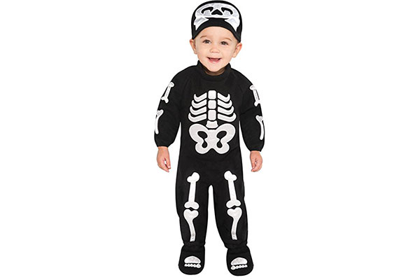 Costume di Halloween da scheletro