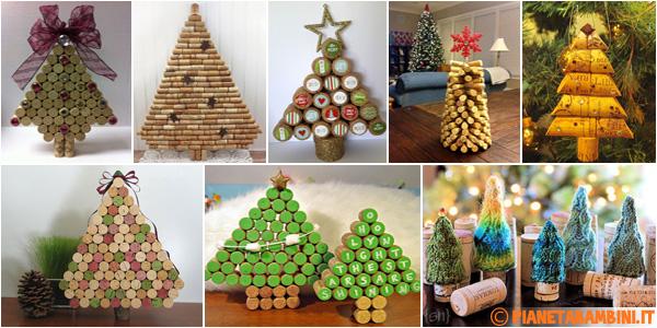 Idee per creare alberi di Natale con tappi di sughero