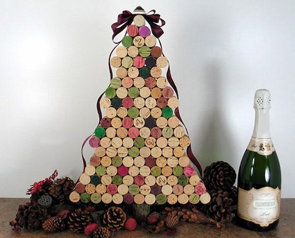 Modello di albero di Natale con tappi di sughero n.02
