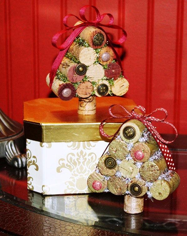 Modello di albero di Natale con tappi di sughero n.03