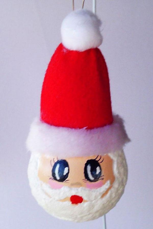 Babbo Natale con lampadine usate n.03