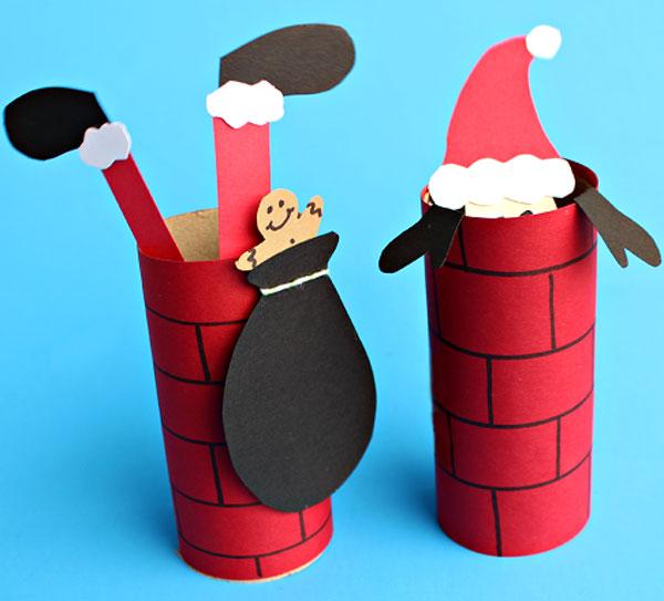 Versione di Babbo Natale con rotoli di carta n.3
