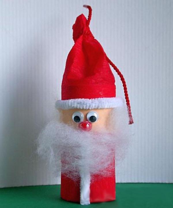 Versione di Babbo Natale con rotoli di carta n.4