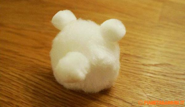Come creare la testa dell'orsetto natalizio