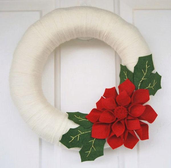 Modello di ghirlanda natalizia in feltro n.07