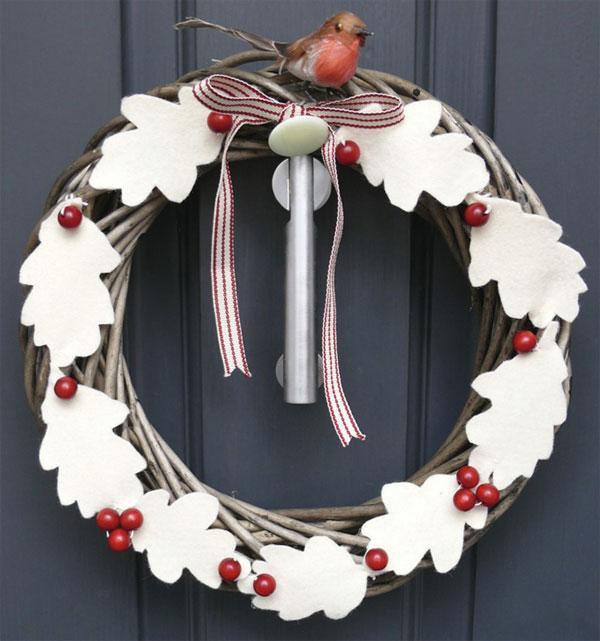 Modello di ghirlanda natalizia in feltro n.14
