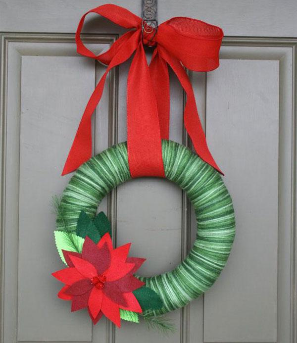 Modello di ghirlanda natalizia in feltro n.20