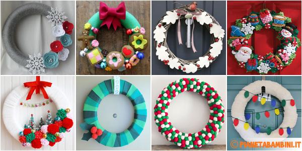 Idee per creare ghirlande natalizie in feltro fai da te