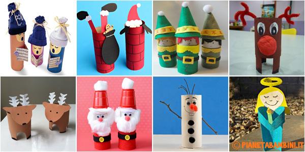 Idee per realizzare lavoretti di Natale con rotoli di carta