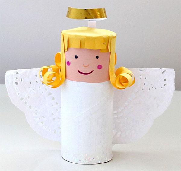 Idee per creare un angelo con rotoli di carta 3