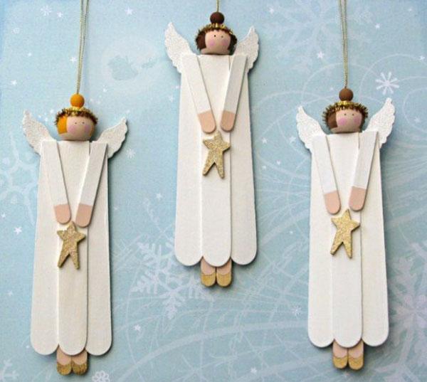 Angeli Lavoretti Di Natale.25 Lavoretti Di Angioletti Natalizi Con Diversi Materiali Pianetabambini It