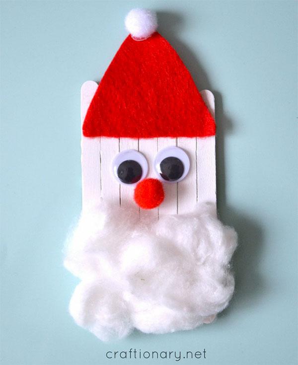 Come creare Babbo Natale con bacchette da gelato
