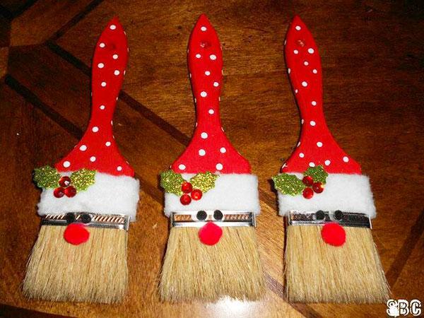 Come creare Babbo Natale con dei pennelli