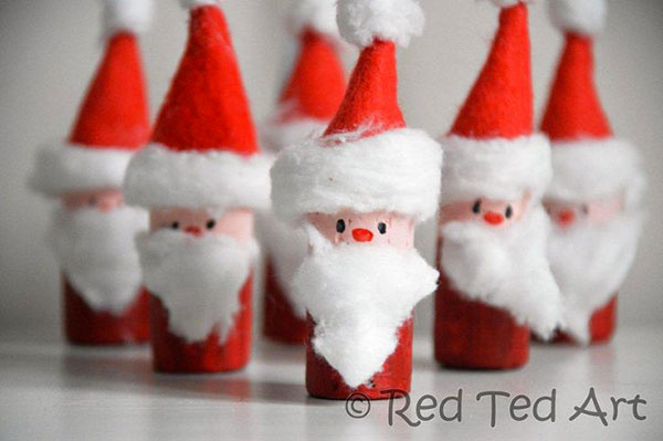 Come creare Babbo Natale con tappi di sughero