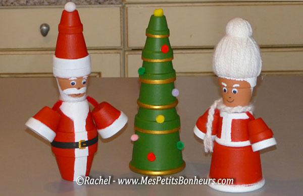 Come creare Babbo Natale con vasetti di ceramica
