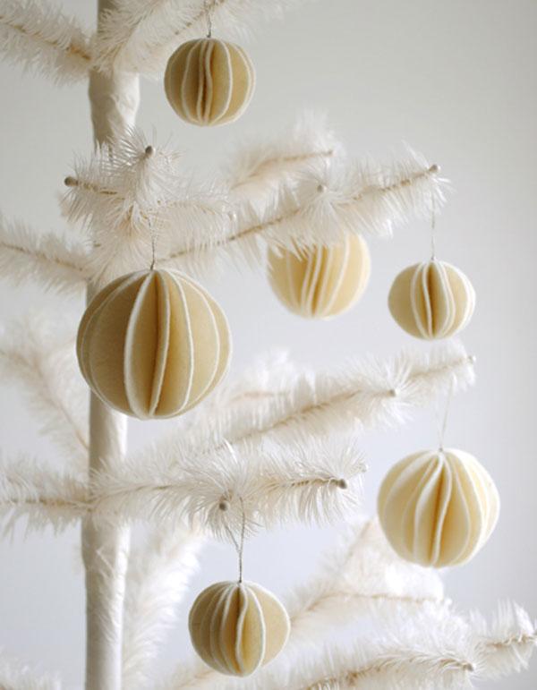Modello di palline di Natale in feltro fai da te n.06