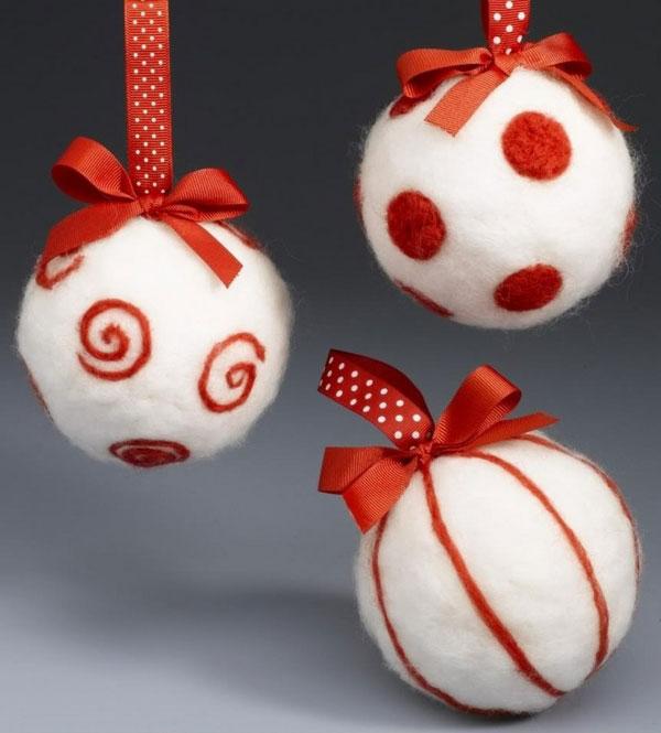 Modello di palline di Natale in feltro fai da te n.12