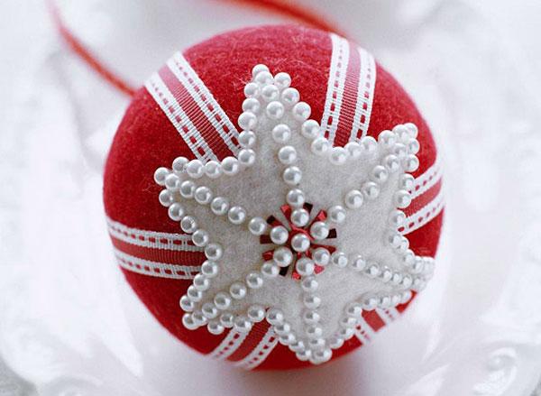 Modello di palline di Natale in feltro fai da te n.20