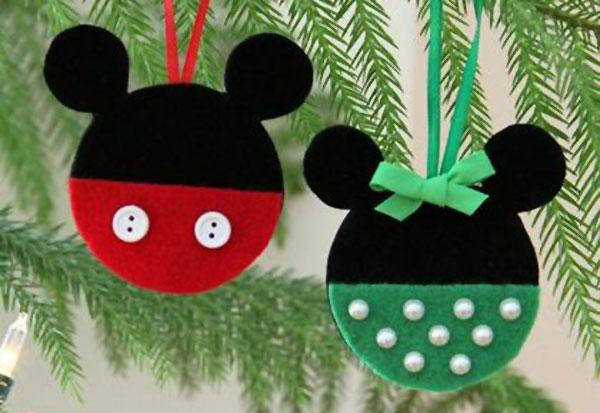 Modello di palline di Natale in feltro fai da te n.28