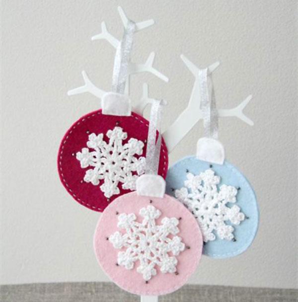 Modello di palline di Natale in feltro fai da te n.49