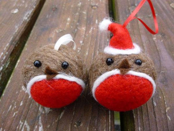 Modello di palline di Natale in feltro fai da te n.55